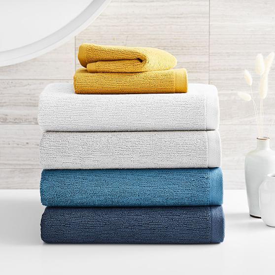 Organic Textured Towel Hand Towel Ethereal Blue Towel Best