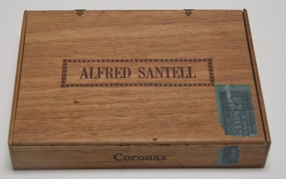 SOLD to the National Cigar Museum! RARE - ALFRED SANTELL Personalized CORONAS CIGAR BOX ONLY Amercian Film Director