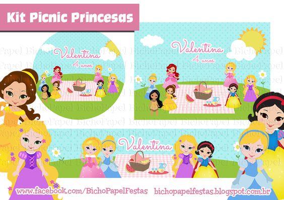 Kit Festa Picnic Princesas