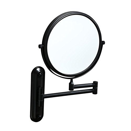 Dw Hx Extendable Makeup Mirror Fold Black Bathroom Mirror Two Sided Swivel Wall Mounted Bathroom Makeup Mirror A Black Bathroom Mirrors Makeup Mirror Mirror