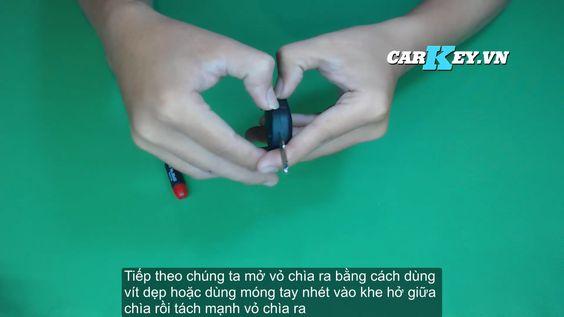 Hướng dẫn thay vỏ chìa khóa ô tô Captiva - Carkey.vn