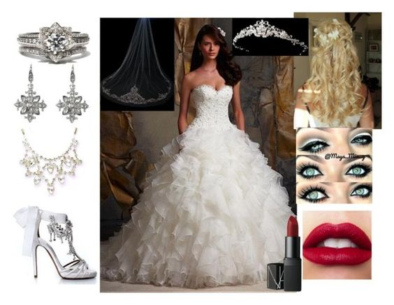 """""""Elegant Bridal"""" by kierramarie12 ❤ liked on Polyvore featuring Tabitha Simmons, NARS Cosmetics, women's clothing, women, female, woman, misses and juniors"""