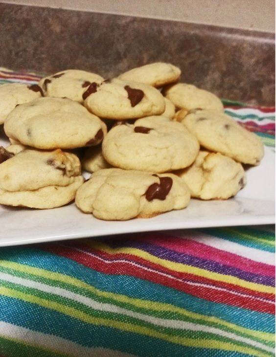 Chocolate chip cookies WITHOUT brown sugar- for those days when you need a cookie and don't have all the ingredients.