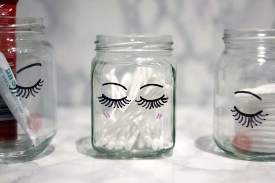Add some little lashes to your jars so they can be as pretty as you are.: