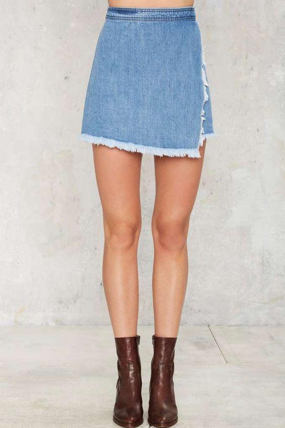 Unfinished Business Denim Skirt - Clothes | Skirts | Just Denim ...