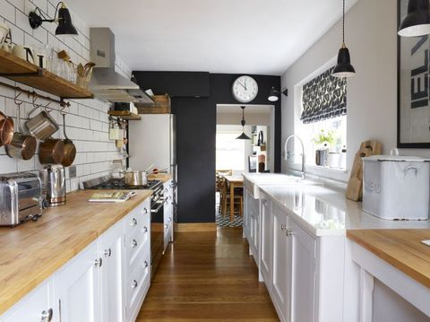 This Shaker Style Galley Kitchen Merges