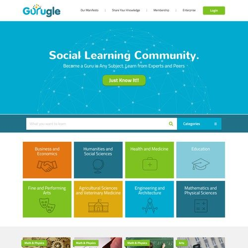 Gurugle Website Mooc Type Website Web Page Design Contest Design Web Page Andresnunez In 2020 Types Of Websites Agricultural Science Social Science
