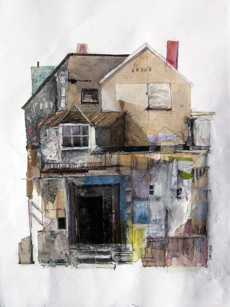 Artist and designer Seth Clark attended art school in Providence, RI and now lives in a row house in Pittsburgh, where he creates place-based drawings and collages of buildings in various states of...