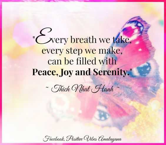 Every breath we take, every step we make, can be filled with peace, joy and serenity.  ~ Thich Nhat Hanh ~