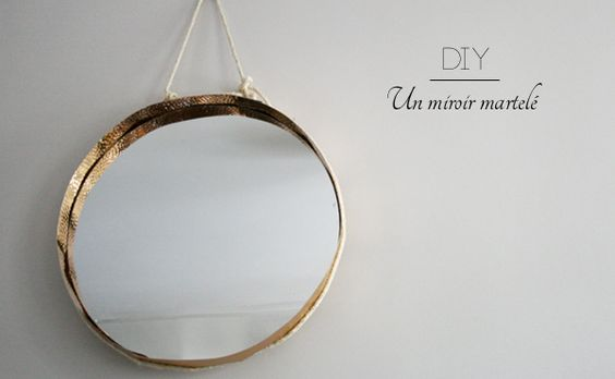 Diy and crafts on pinterest for Miroir rond 70