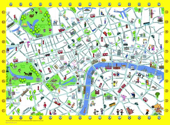 London Detailed Landmark Map – Map Of Central London With Tourist Attractions
