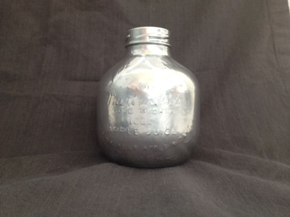 How to make a silvered Martinelli's glass apple juice bottle.