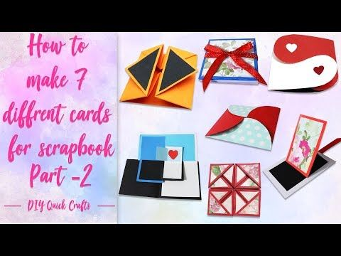 How To Make 7 Different Cards For Scrapbook 7 Different Cards Ideas Scrapbook Tutorial Par 2 Youtube Scrapbook Tutorial Cards Handmade Cards