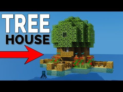 How To Make A Starter Treehouse Easy Compact Tiny Minecraft