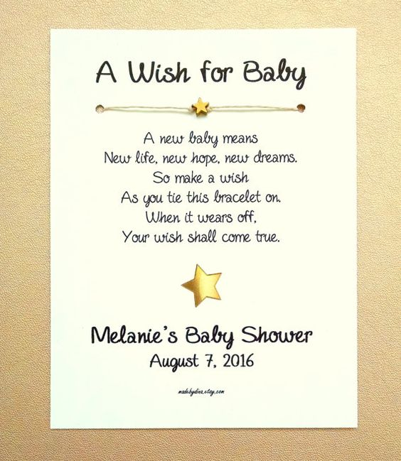A Wish For Baby Little Star Theme Wish Bracelet Party