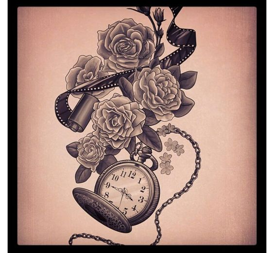 Beautiful ash and human skull on pinterest for Stop watch tattoos