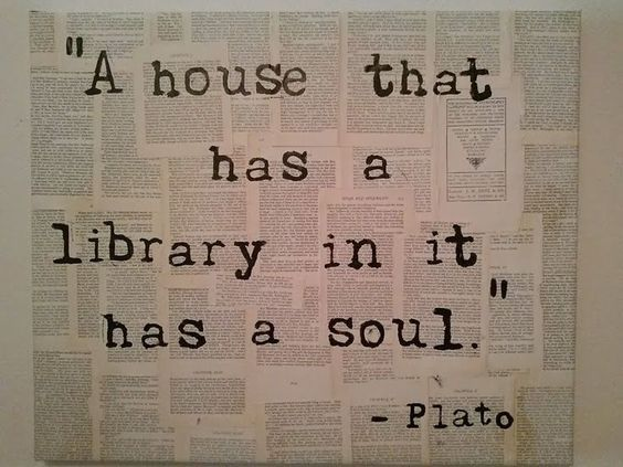 How To Design And Organize A Home Library - Hadley Court - I need to include that quote. Maybe on canvas?