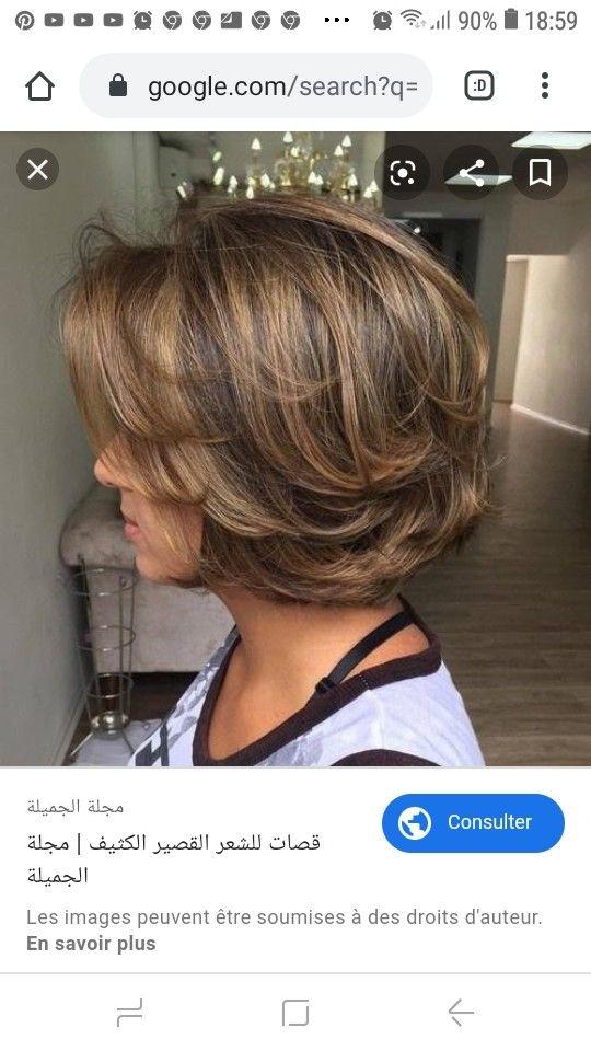 Pin By Vanda Cabral Aberceb On Cheveux Hair Styles One Length Hair Chin Length Hair