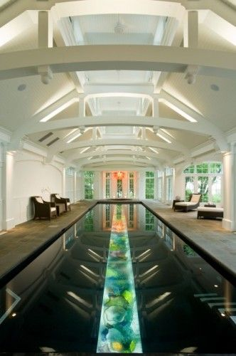 This looks scary to swim in- A glass bottom pool