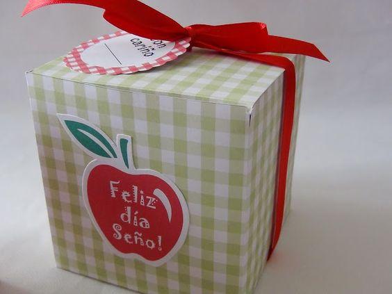 SD Eventos: DÍA DEL MAESTRO Gift Box Día del Maestro Regalo Día del Maestro Cupcake Golosinas Cajita Regalo Día del Maestro
