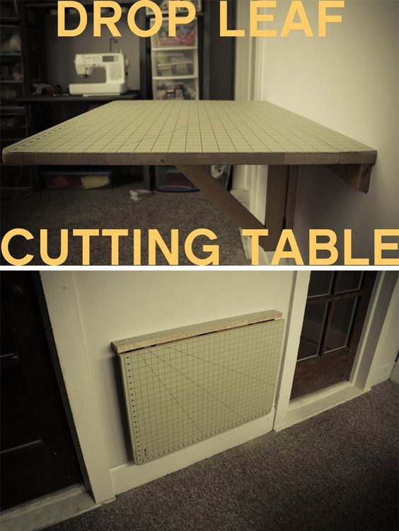 diy drop down cutting table made from a ikea wall mounted drop down table http. Black Bedroom Furniture Sets. Home Design Ideas