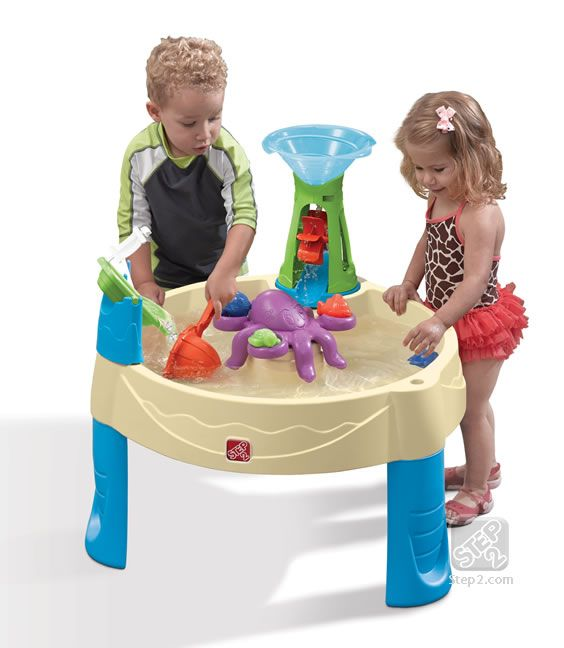 Create of whirlpool of excitement in your own backyard with the Step2 Wild Whirlpool Water Table, a unique water table for kids! #water #toddler #play