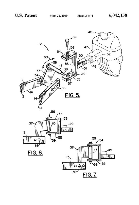 patent us6042138 - motorcycle trailer apparatus
