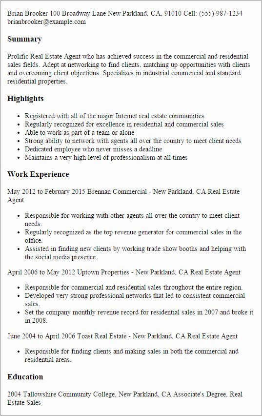 Real Estate Agent Resume Template Premium Resume Samples Example Resume Examples Good Resume Examples Resume