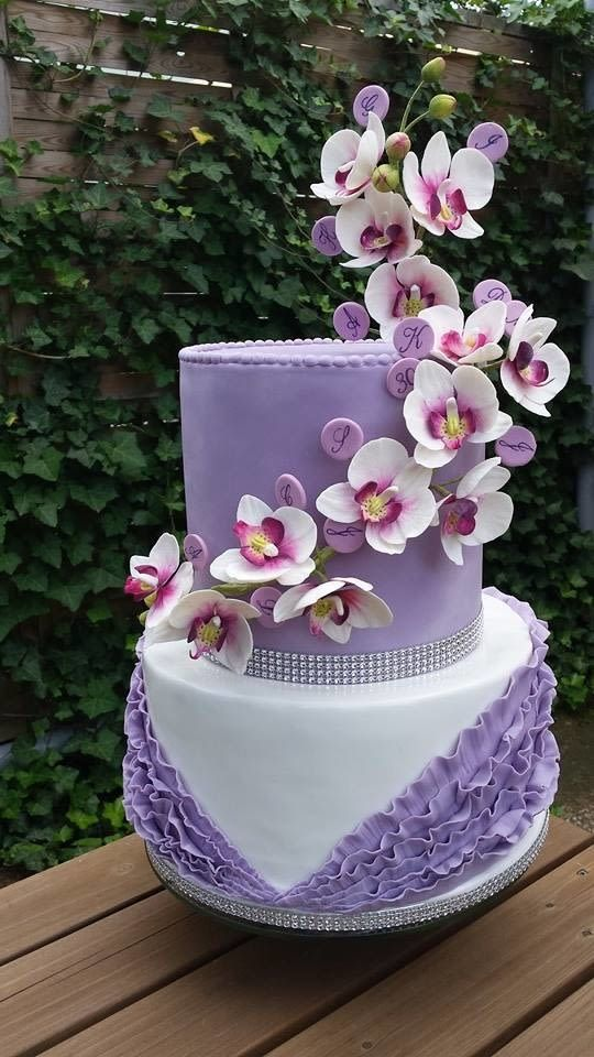 Flower Cake Orchid Orchid Cake Silhouette Cake Cake