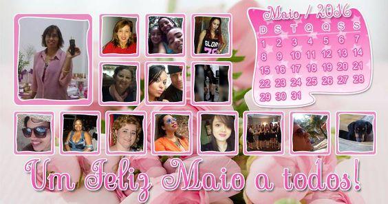 Lindo mosaico de Maio com 14 amigos. Faça o seu!