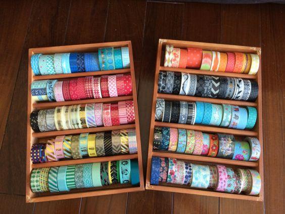 Washi Tape Maple Wood Case / Masking Tape by ZakkaLuLuZone on Etsy