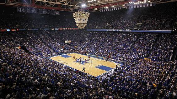 Rupp Arena is the home of the University of Kentucky basketball team in Lexington, KY. It seats around 25,000 spectators and is full for every home game.