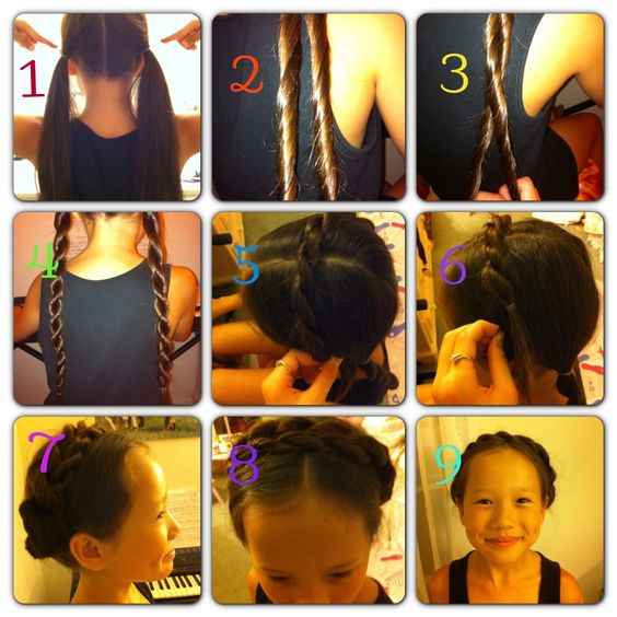 This is a really cute and easy milkmaid/crown braid that I did to my little sister that is really easy to make!