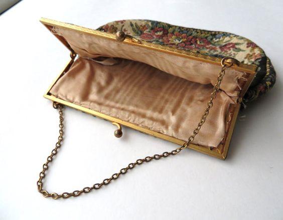 Vintage Estate Tapestry Bag / Needlepoint / by almondtreevintage
