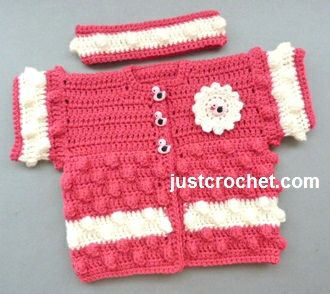 Craft Passions: Baby jacket .# free # crochet pattern link ...