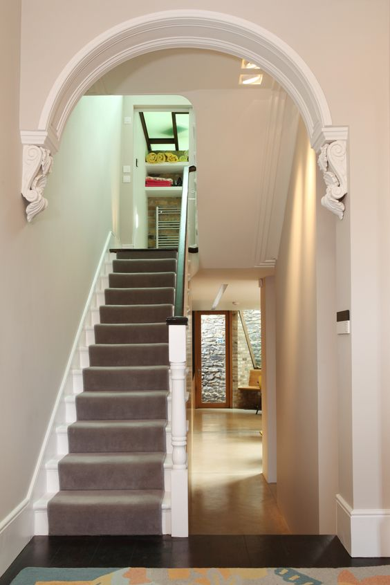 Foyer Ideas Questions : Lpa restored victorian hallway arch architecture