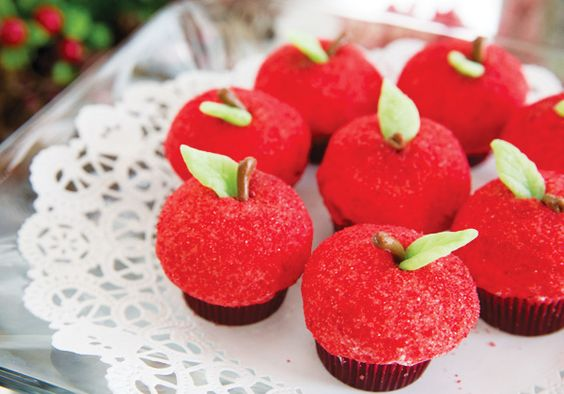 Apple cupcakes - perfect for a Little Red Riding Hood party