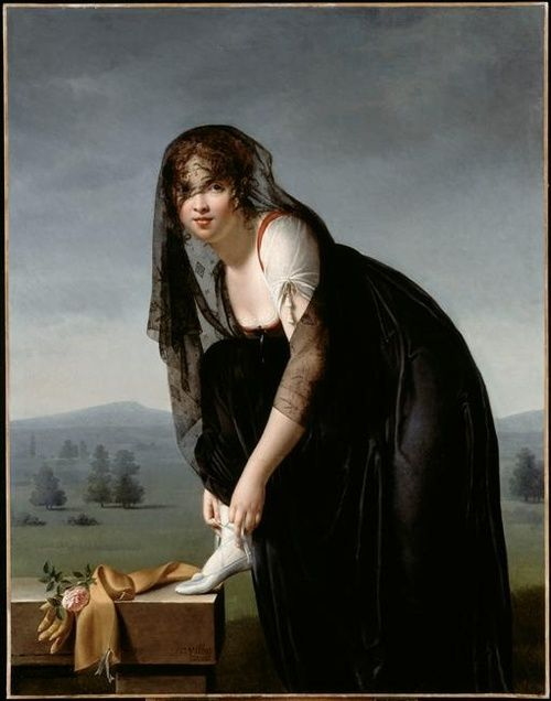 Marie-Denise Villers: Portrait of Madame Soustra,1802.
