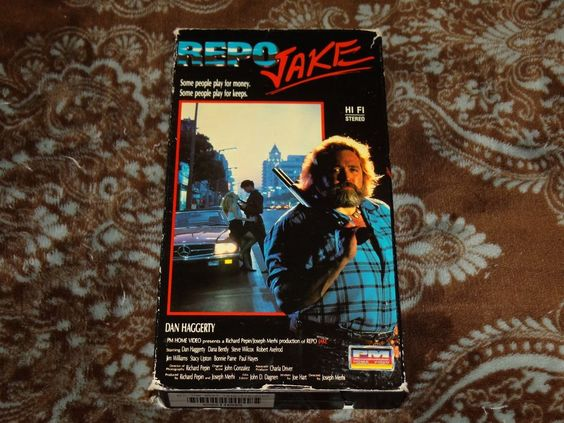 Repo Jake (VHS, 1990) Rare OOP 1st PM Home Video Release! Dan Haggerty B Action!