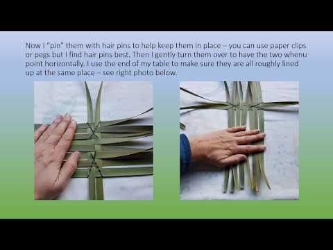 How To Weave A Nz Flax Phormium Kono Square Basket Youtube Flax Weaving Weaving For Kids Weaving