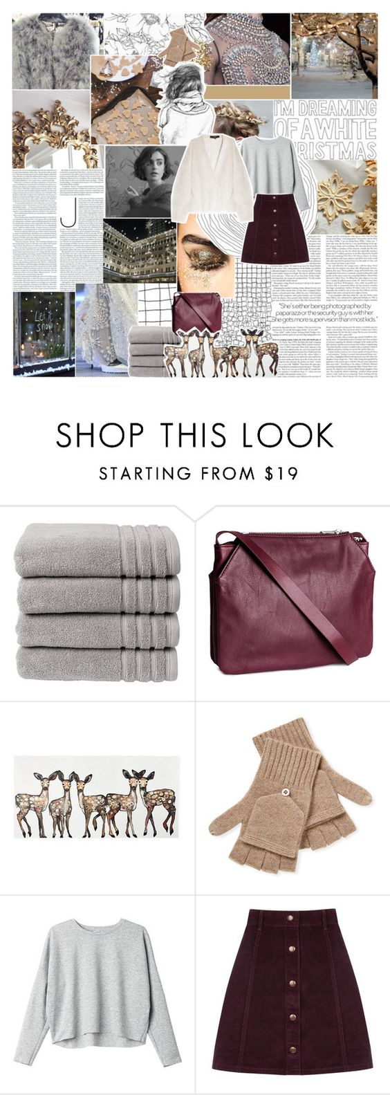 """MERRY CHRISTMAS! "" by burning-citylights ❤ liked on Polyvore featuring Prada, Christy, H&M, Qi Cashmere, Monki, Oasis, Versus, TIBI and magazinesets"
