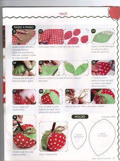 Moldes Para Artesanato em Tecido: Molde de Frutas Tecido maçã 2/2