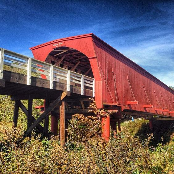 """Staff editor (at)jhoffert photographed the Roseman Bridge during last weekend's Covered Bridge Festival in Madison County, Iowa. This bridge was made famous by the novel and film, """"The Bridges of Madison County,"""" which was recently adapted into a Broadway musical of the same name. Share your #midwestmoment with us on Instagram: https://instagram.com/midwestlivingmag/:"""