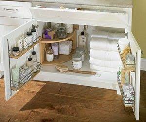 Bathroom cabinet organization