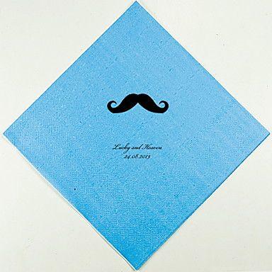 Gepersonaliseerde Bruiloft Servetten Snor (meer kleuren)-set van 100 – EUR € 20.99