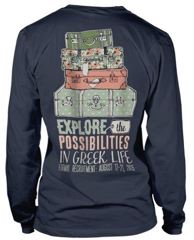 Panhellenic Recruitment T-shirts