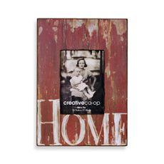 "Barnwood Distressed Wood 5"" x 7"" Frame - Red - Bed Bath & Beyond"