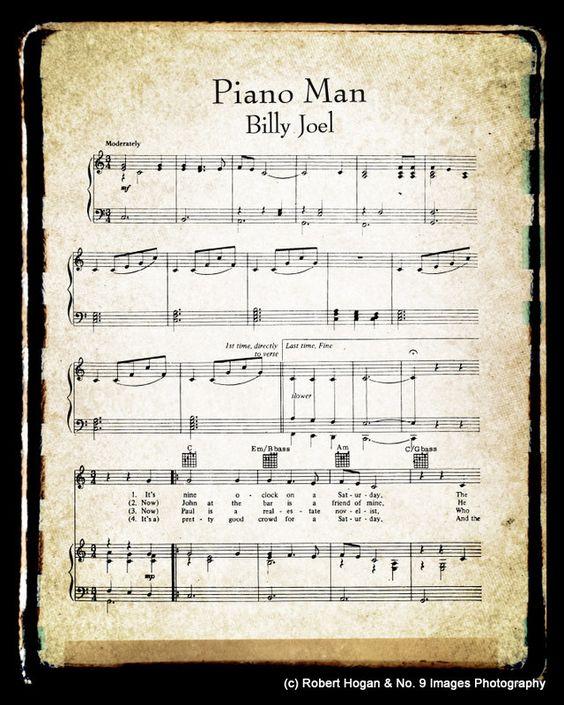 Piano Man Sheet Music And Lyrics