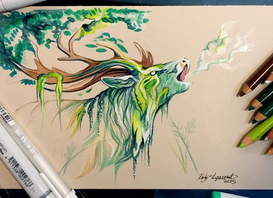 For September's round of Patreon rewards and drawings, I am making elemental stag spirits <3 Get timelapse videos, lineart, and other fun content on my Patreon feed:www.patreon.com/katylip...