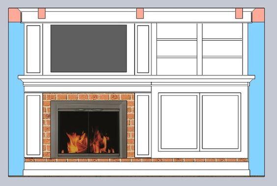 Building a fireplace facade the design home decor ideas for Fireplace facade ideas